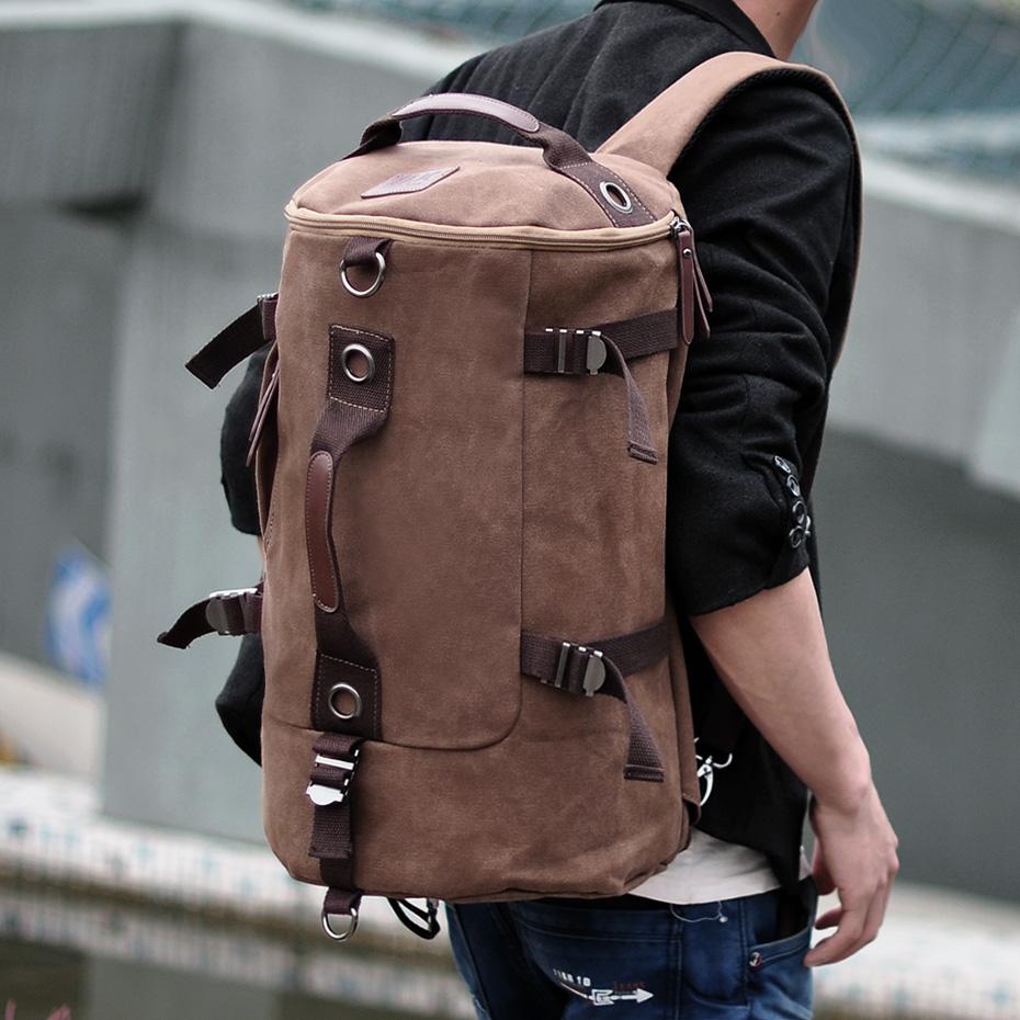 【免運費】戶外旅行大容量背包雙肩包男士帆布包