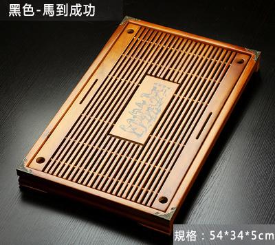 【免運費】家用功夫茶具配件實木茶盤竹茶台托盤