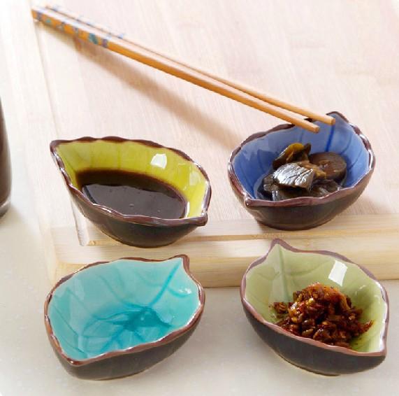 【免運費】創意樹葉陶瓷異形小碟子餐具套裝