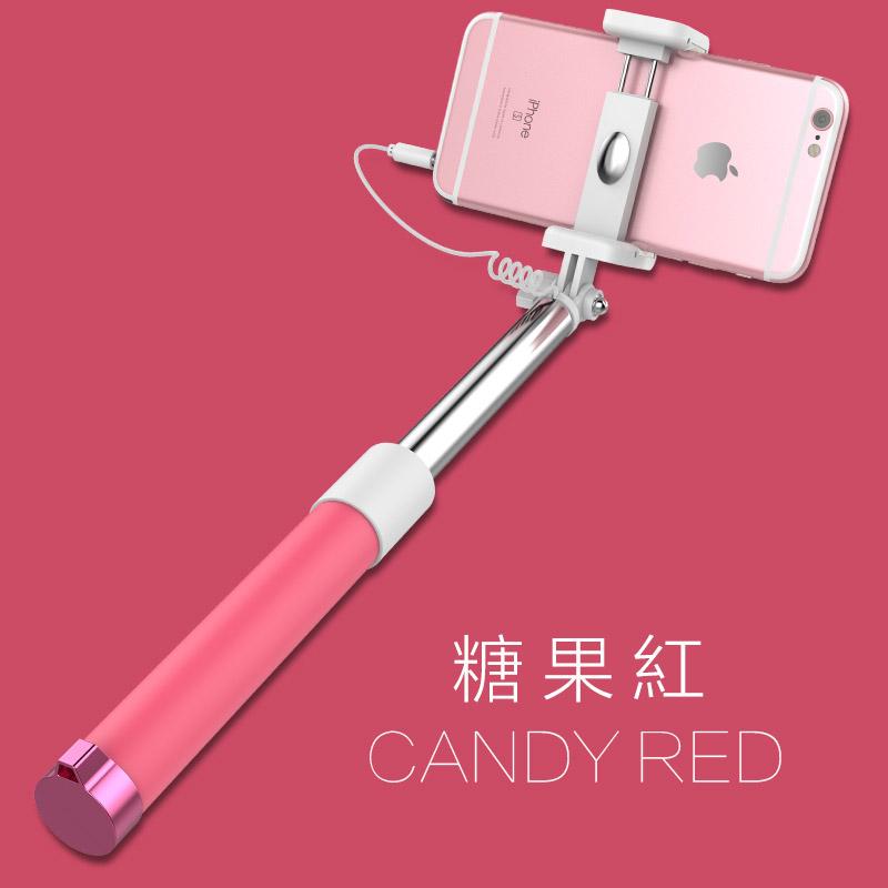 【免運費】 手機通用型不鏽鋼自拍棒拍照