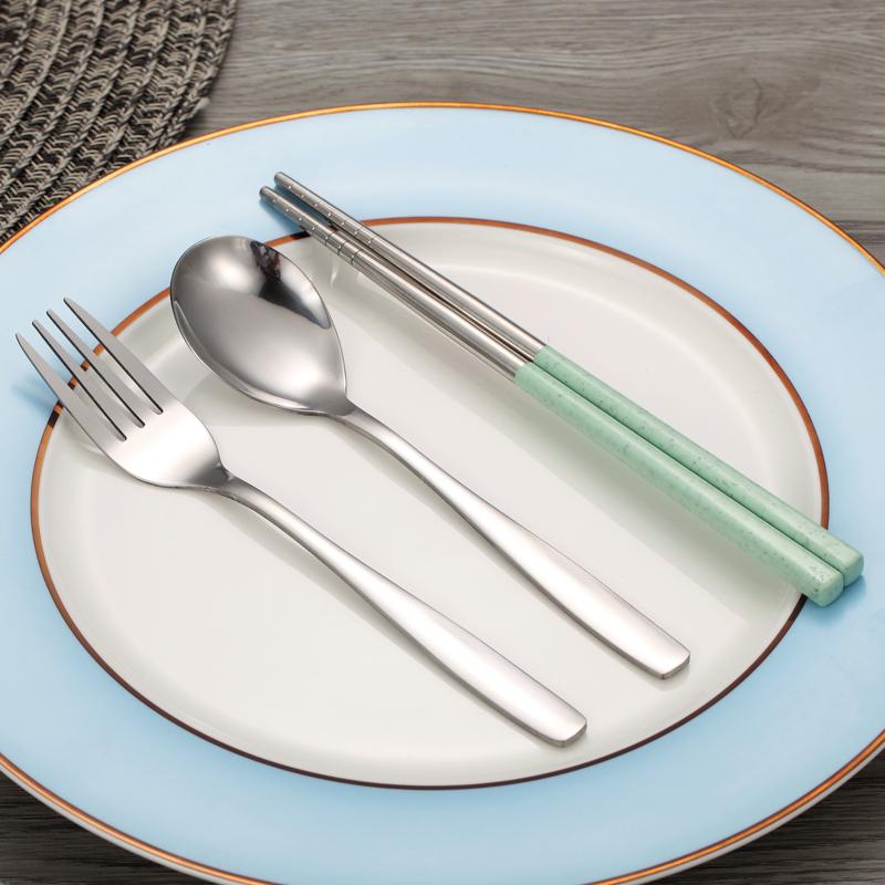 【免運費】筷子勺子創意不鏽鋼便攜式套裝