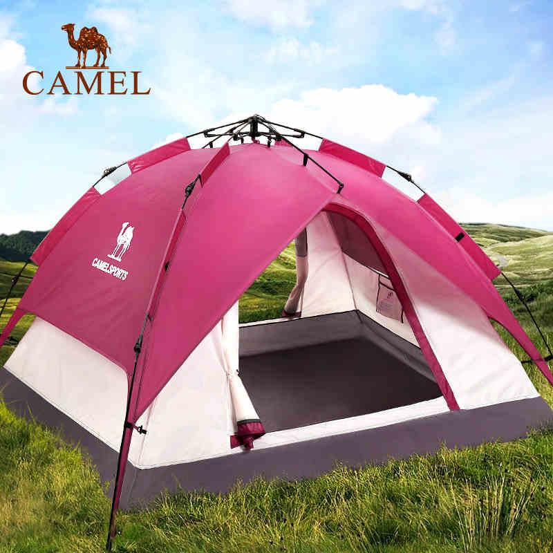 【免運費】戶外3-4人野外露營防風自動帳篷