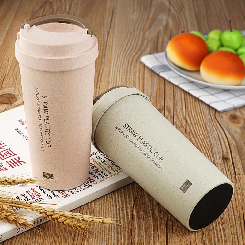 【免運費】清新創意小麥稭稈簡約水杯塑料環保水瓶
