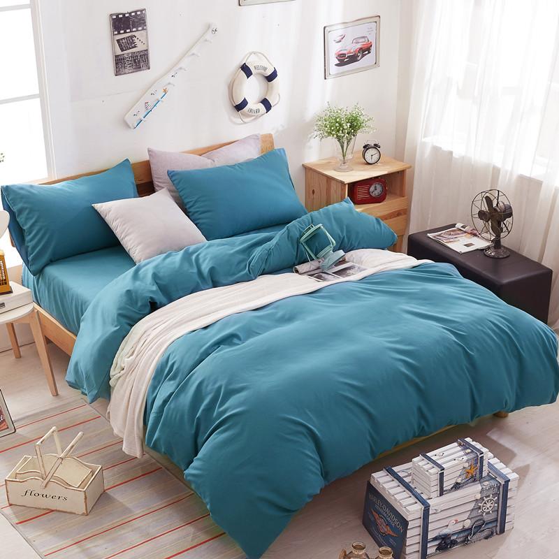【免運費】純色床上用品學生宿舍被子1.5m單人床單三件套
