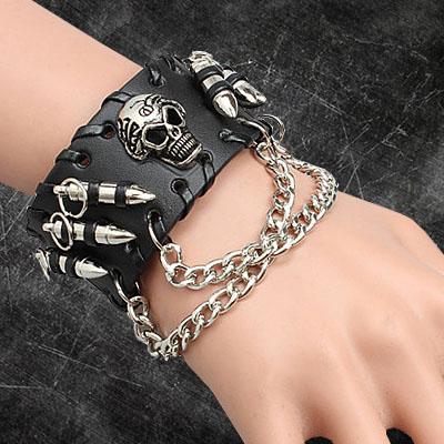 黑骷髏手鏈