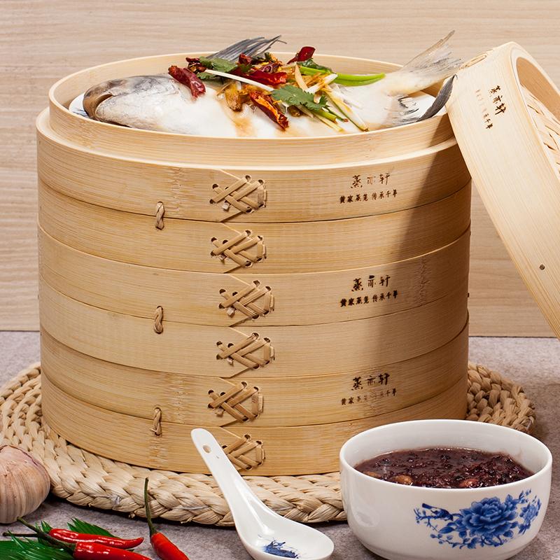 【免運費】竹子蒸籠加高加深家用毛竹小籠包籠屜竹編蒸格