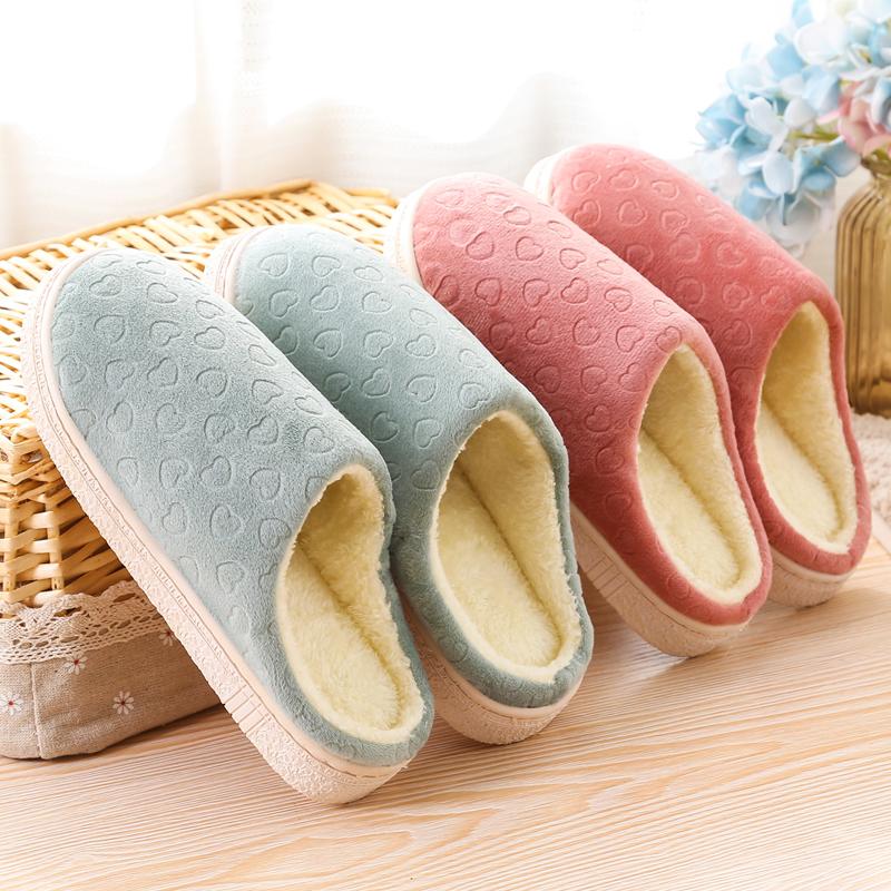 【免運費】冬季居家保暖室內防滑棉拖鞋