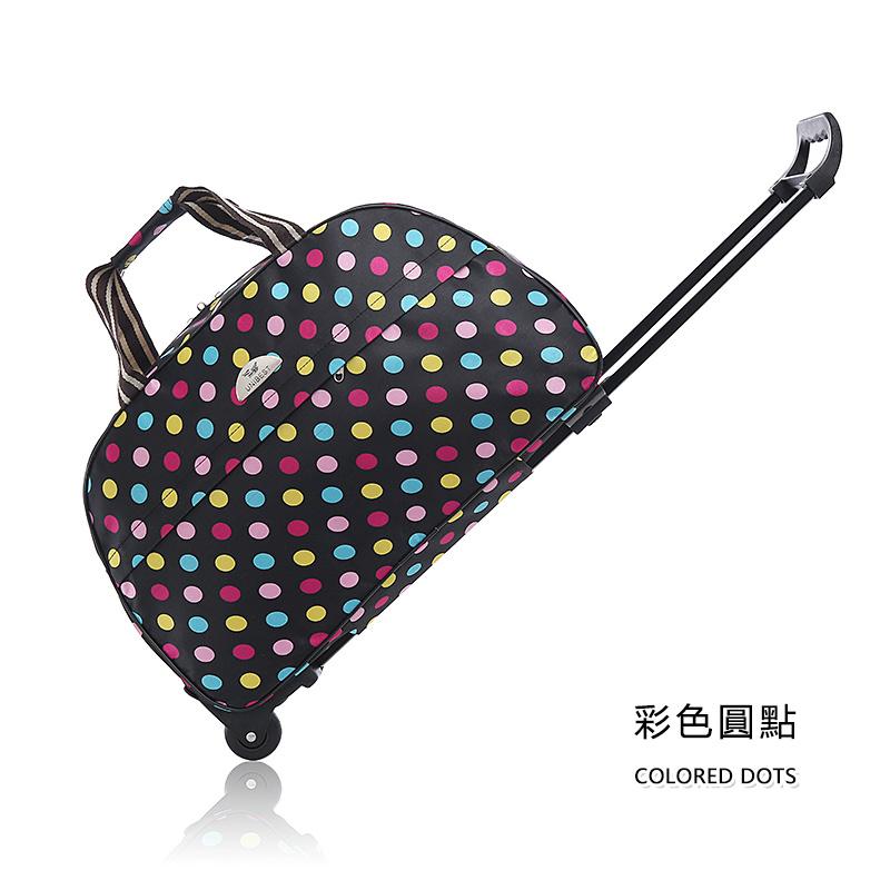 【免運費】時尚大容量拉桿包可折疊手提旅遊包