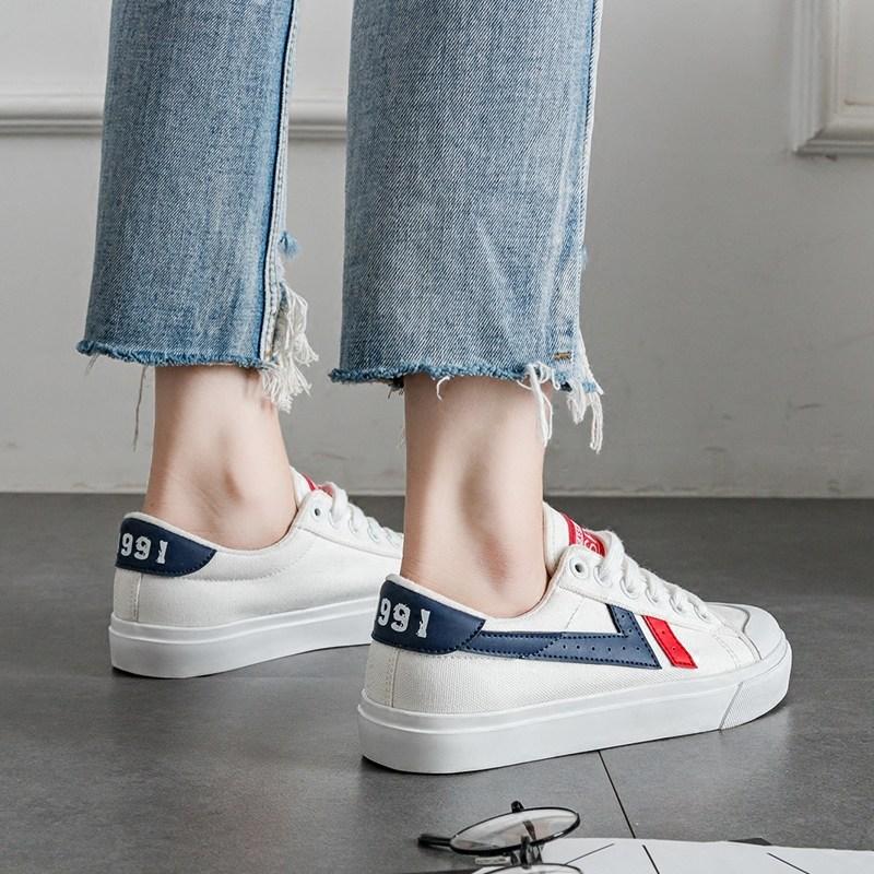 【免運費】學生新款帆布鞋女百搭韓版小白鞋