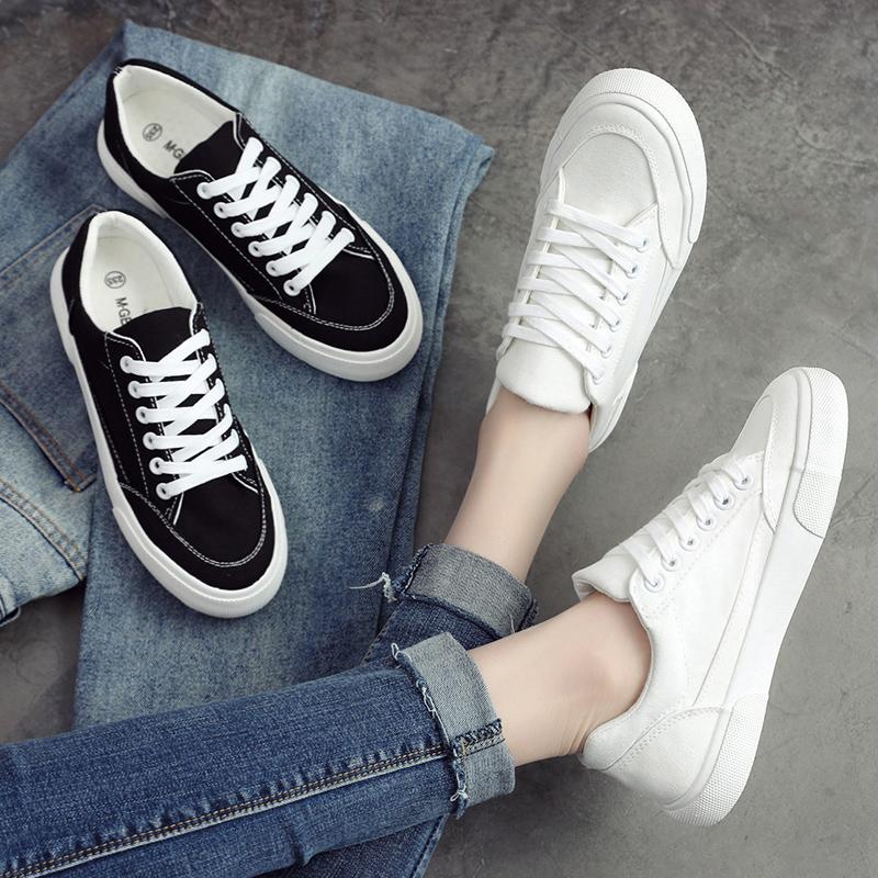 【免運費】平底休閒韓版小白鞋學生百搭板鞋