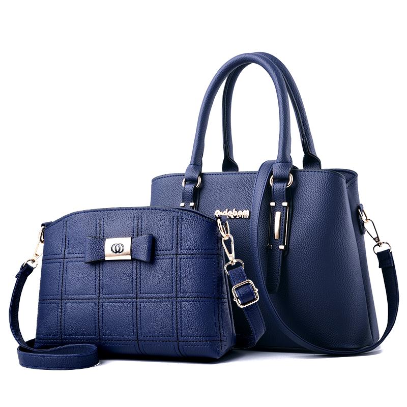 【免運費】時尚百搭簡約手提單肩包子母包