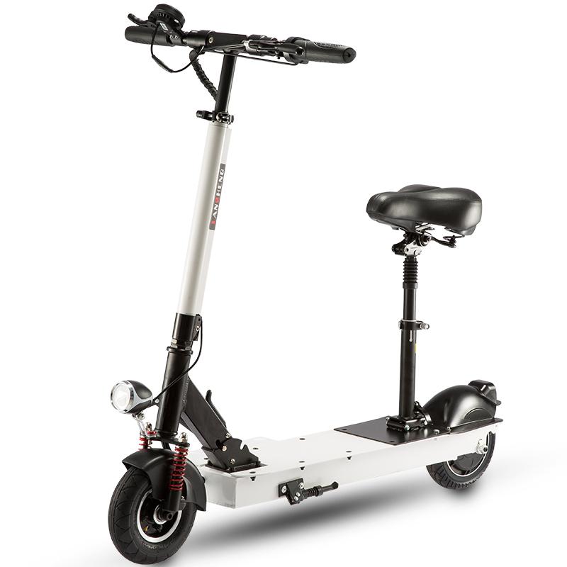 【免運費】智能摺疊 空間無限.迷你電動滑板車.可摺疊代步便攜電動自行車50KM超長續航