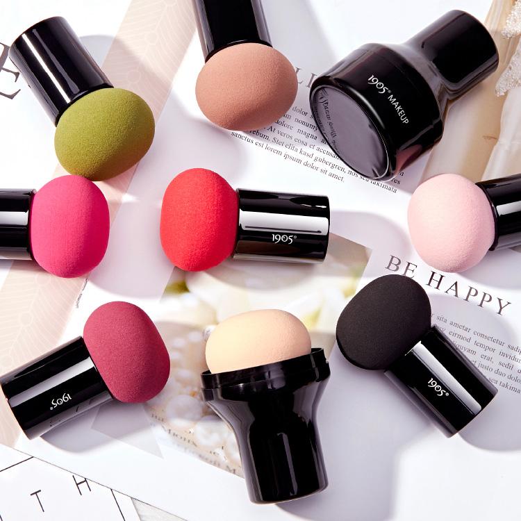 【免運費】買2送1萌物!圓頭小蘑菇頭化妝海綿粉撲美妝蛋氣墊幹濕用