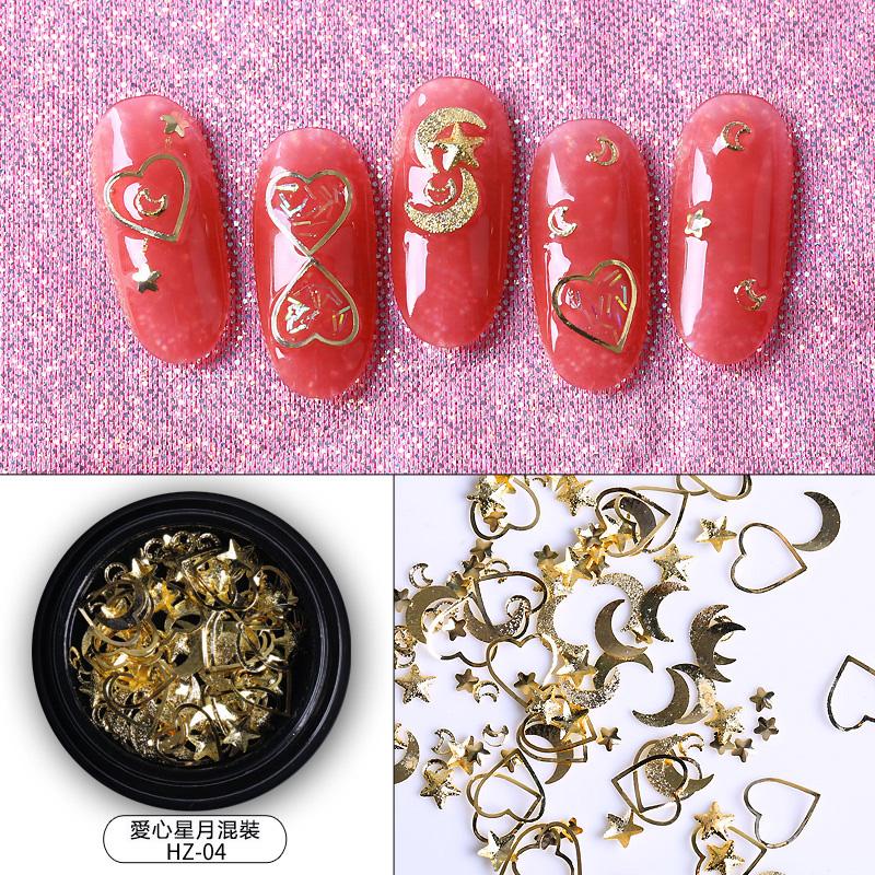 【免運費】鑽石美甲水鑽飾品星月美甲全套新款金屬裝飾日系貼鑽