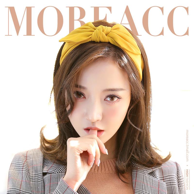 【免運費】More Acc髮箍成人韓國簡約寬邊髮帶髮卡可愛兔耳朵頭箍