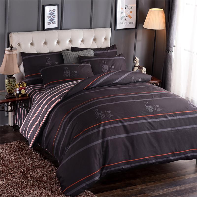 【免運費】親膚棉床上用品四件套1.8m被套床單人床