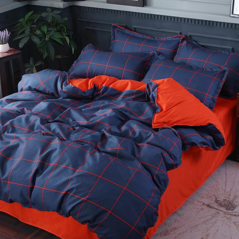 【免運費】簡約床上用品純棉四件套被套