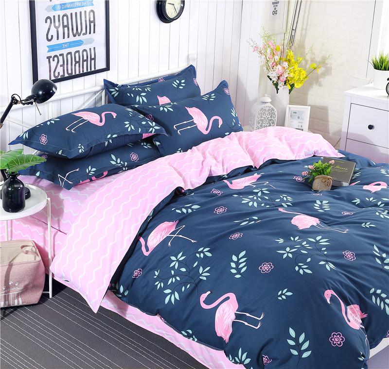 【免運費】簡約床上用品全棉四件套雙人1.5/1.8m床單被套