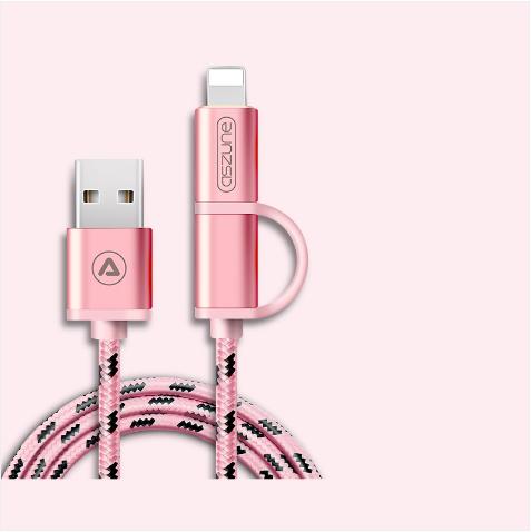 【免運費】安卓ios雙頭充電器兩用數據線快速充電